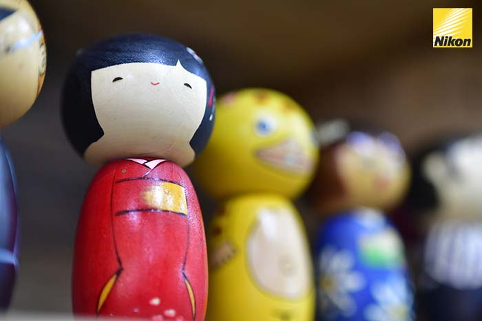 วาดตุ๊กตาไม้ usaburo kokeshi 3